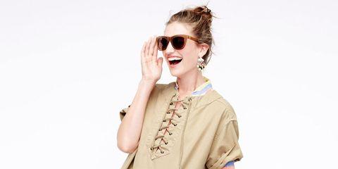 Clothing, Eyewear, Vision care, Glasses, Finger, Sunglasses, Sleeve, Jewellery, Outerwear, Earrings,
