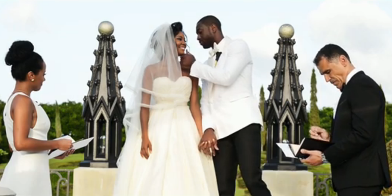 Gabrielle union and dwyane wade turned their wedding into a rom com wonderfully titled the wade union junglespirit Choice Image
