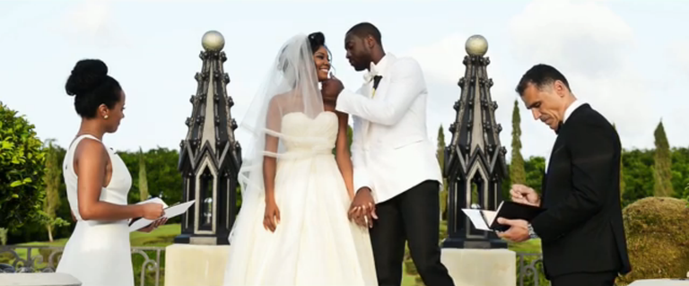 Gabrielle union and dwyane wade turned their wedding into a rom com if youre a fan of watching two unusually attractive people marry each other in a romantic ceremony seeing gorgeous wedding dresses and kevin hart junglespirit Gallery