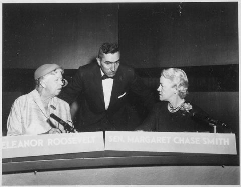 The two women represented Adlai Stevenson and Dwight D. Eisenhower in the first televised presidential debate.