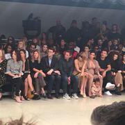 Footwear, Leg, Fashion, Crowd, Audience, Fashion show, Runway, Fashion design, Fashion model,
