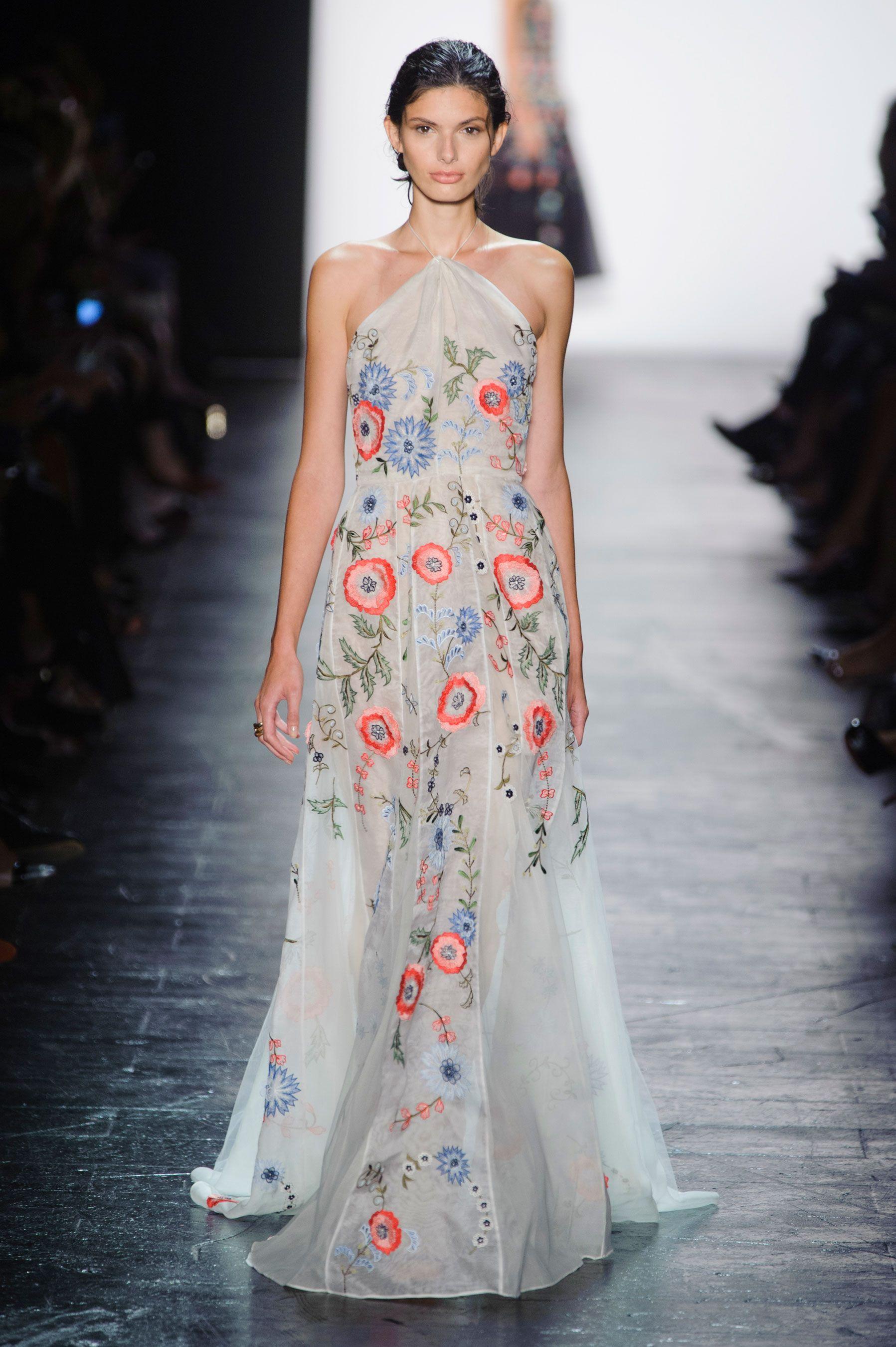 Fashion show evening dress