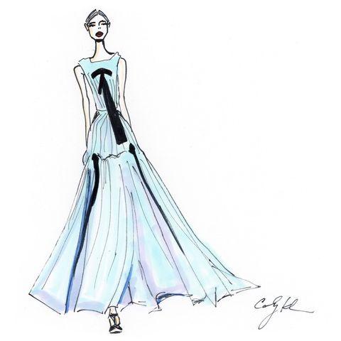 Dress, Sleeve, Shoulder, Standing, One-piece garment, Formal wear, Gown, Style, Fashion illustration, Costume design,
