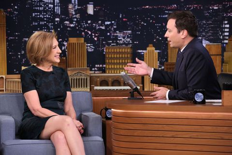The presidential candidate discussed Donald Trump and her dog on late night.