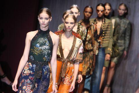 Face, Head, Dress, Style, Fashion model, Fashion, Youth, Day dress, One-piece garment, Fashion show,