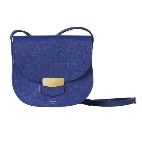 "<p>""I welcome the odd touch of color in my monochromatic world. This structured saddle purse is just what I've been looking for."" </p><p>Céline Small Trotteur Bag, $1,850, at Céline, NYC</p>"