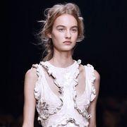 Fashion model, Beauty, Fashion, Neck, Jewellery, Model, Flash photography, Lace, Embellishment, Long hair,