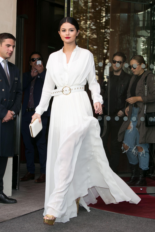 Selena Gomez, Hero, Wore $212 Pajamas Out in Paris