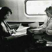 Melanne Verveer and Hillary Clinton