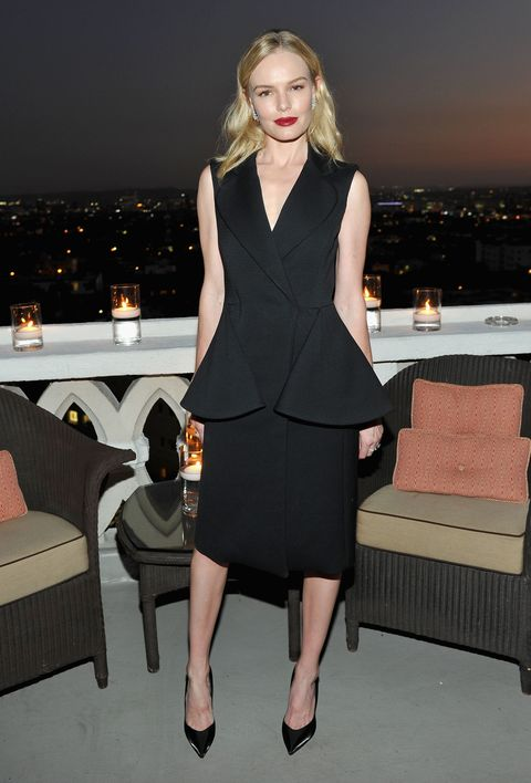 <p>Who: Kate Bosworth<br></p><p>When: September 24, 2015 </p><p>Why: It's hard to find a time when Kate Bosworth doesn't look flawless, and this outfit is no exception. She accessorized her dramatic Dior gilet dress with sharp black pumps, diamond jewelry, and red-hot lipstick. A perfect 10, as usual.</p>