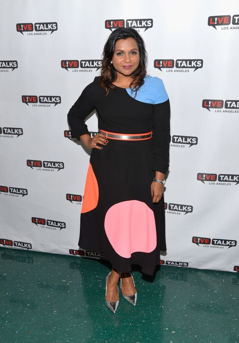 <p>Who: Mindy Kaling<br></p><p>When: September 27, 2015 </p><p>Why: Mindy Kaling can do no wrong (but I probably think that because she's my dream BFF.) But really, look at this graphic Roksanda dress: It's a great example of her bold style, especially when paired with Vita Fede jewels, silver stilettos, and a tangerine belt. Imagine raiding her closet and finding covetable amounts of rainbow-brite looks! If you're reading this Mindy, I'm available as a friend, cohort, or personal hype man. Your pick. </p>