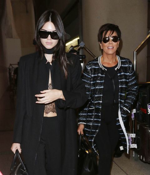 Kendall Jenner Wore Lingerie at the Airport