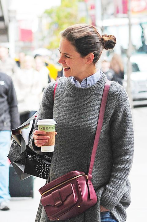 "<p>Katie's a half-caf grande soy latte type of gal, <a href=""http://www.foxnews.com/story/2007/04/02/hollywoodrsquos-hottest-accessory-big-coffee-cup.html"">a barista revealed</a>. </p>"