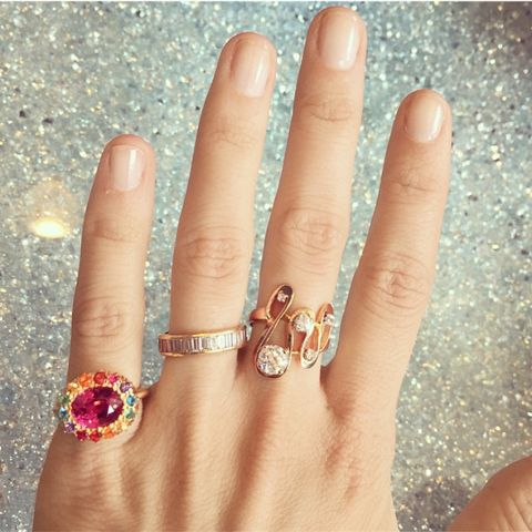"<p>""I mix and layer my rings every day and document them on my Instagram.""</p>"