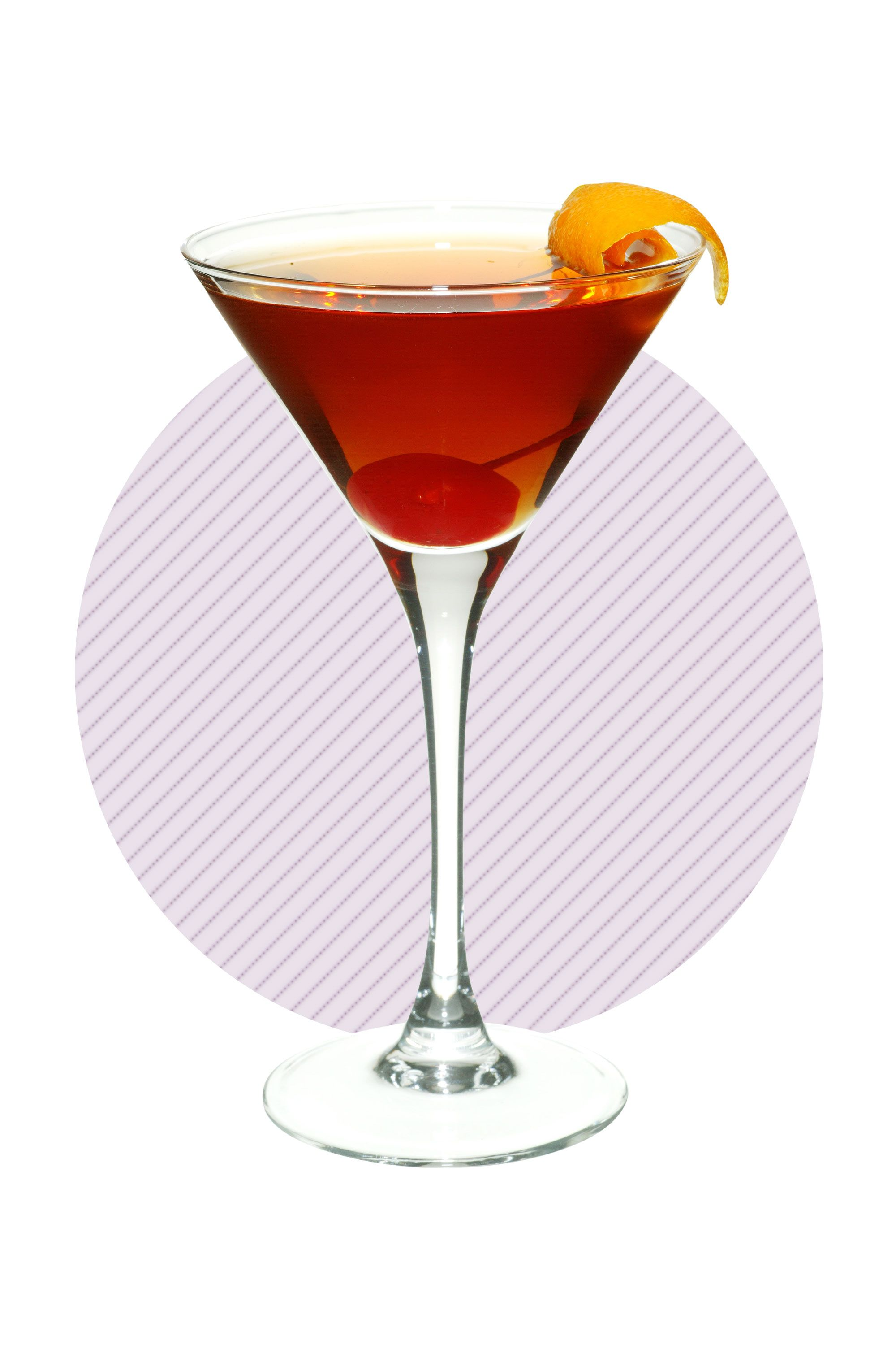 <p>Say no to the syrup-soaked maraschinos and replace the added sweetness with a smoky flavor by rinsing the glass with a quality scotch or whiskey. James says you'll be adding more intensity to the drink while simultaneously decreasing the cocktail's calorie count. </p>