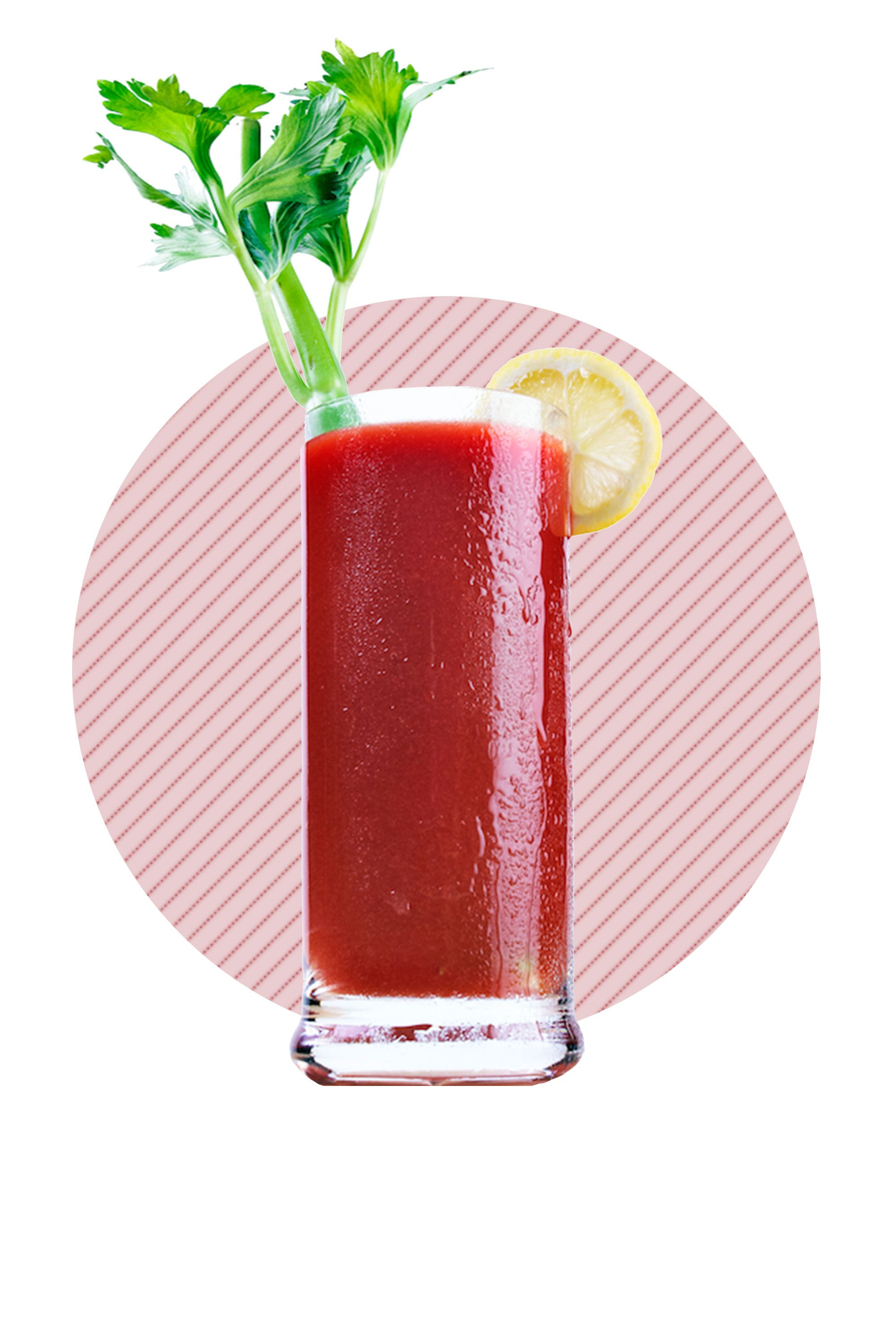 """<p>Gotta choose between a mimosa or a Bloody? It may feel like a heavier drink, but registered dietitian <a href=""""http://www.nicolesilber.com/about/"""" target=""""_blank"""">Nicole Silber</a>, a nutritionist at Middleberg Nutrition, says a Bloody Mary is always the winner if you're looking to cut back on sugar. Of course, it's important to remember that the tomato juice drink is <a href=""""http://www.mayoclinic.org/diseases-conditions/heart-disease/in-depth/heart-healthy-diet/art-20047702?pg=2"""" target=""""_blank"""">loaded with salt</a>. In other words, despite the fact that it's low in sugar, it's still probably not the best idea to throw back three with your eggs Benedict this weekend. </p>"""