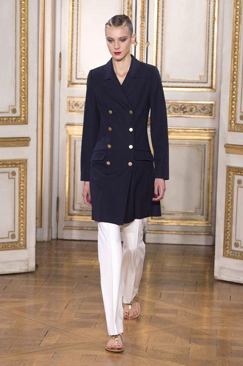 Collar, Sleeve, Outerwear, Standing, Floor, Dress shirt, Style, Formal wear, Flooring, Blazer,