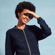 Collar, Sleeve, Dress shirt, Black hair, Neck, Cool, Jheri curl, Afro, Gesture, Tooth,