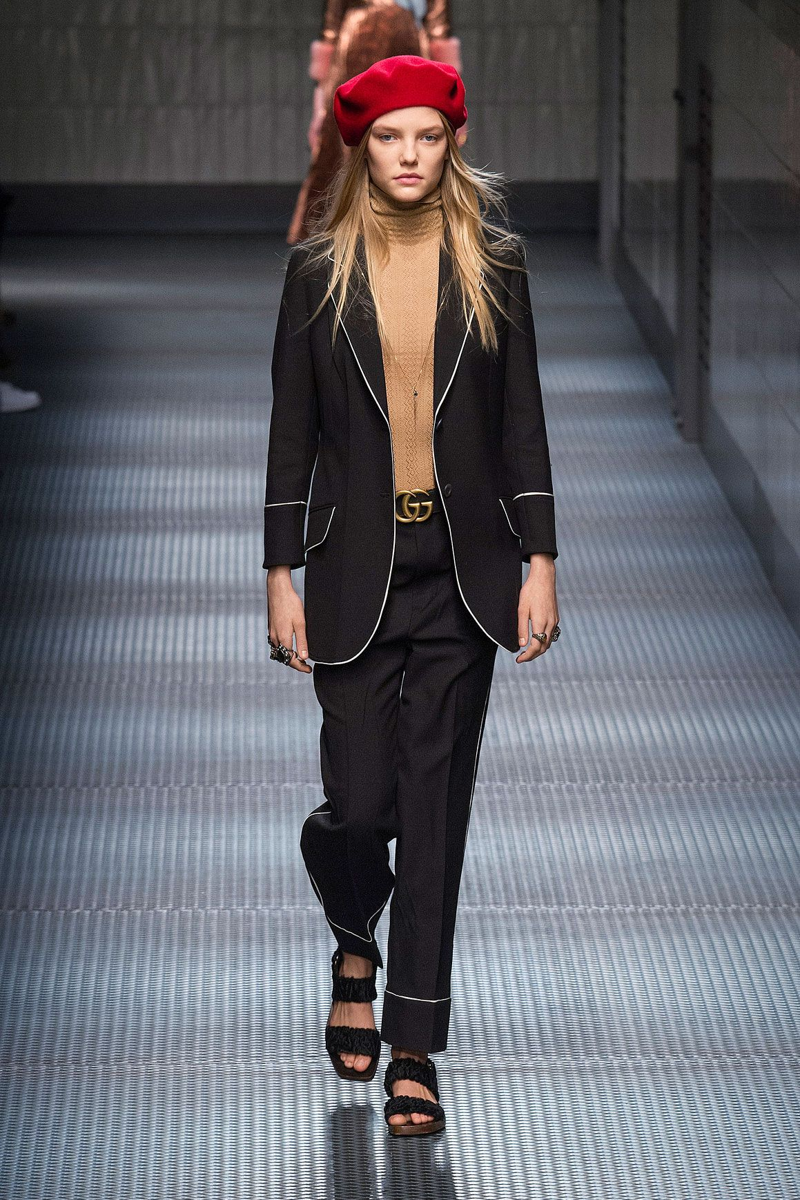 <p>Gucci's update to the two-button suit</p>