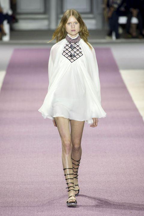 Clothing, Fashion show, Shoulder, Human leg, Joint, Dress, Runway, Fashion model, Style, Street fashion,