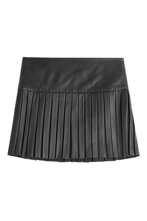 """<p>Polo Ralph Lauren Pleated Leather Mini Skirt, $685; <u><a href=""""http://www.stylebop.com/product_details.php?id=632884"""" target=""""_blank"""">stylebop.com</a></u></p>"""