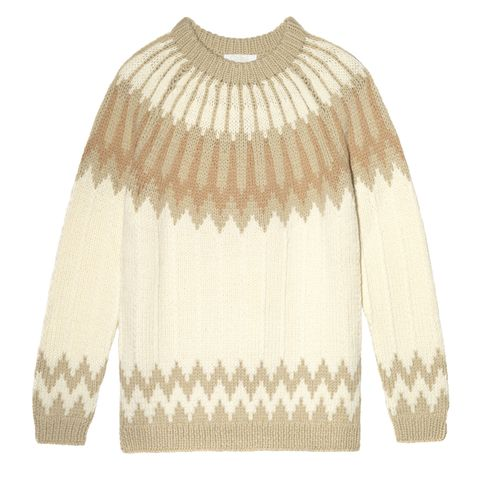 "<p>Chloé Intarsia Wool Sweater, <span class=""currency style-scope nap-product-price"" style=""line-height: 1.6em;"">$</span><span class=""full-price style-scope nap-product-price"" style=""line-height: 1.6em;"">1,385; <a href=""http://www.net-a-porter.com/us/en/product/621616"">net-a-porter.com</a></span></p>"
