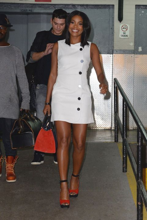 "<p>Who: Gabrielle Union </p><p>When: October 14, 2015</p><p>Why: <a href=""http://www.elle.com/fashion/celebrity-style/a30933/gigi-hadid-style-cheap-dress/"" target=""_blank"">Gigi Hadid</a> isn't the only celeb that dresses in affordable digs. Gabrielle Union stepped out in a <a href=""http://us.asos.com/ASOS-Mini-Dress-with-Button-Detail/16a4zr/?iid=5238998&istCompanyId=467dd896-9a62-42c2-84d9-be2d13921f66&istItemId=lmaqprwai&istBid=t&channelref=google+shopping&affid=14174&channelref=google+shopping&utm_source=google&utm_medium=ppc&utm_term=74120971327&utm_content=&utm_campaign=&cvosrc=ppc.google.74120971327&network=g&mobile=&search=1&content=&creative=76108201105&ptid=74120971327&adposition=1o1&r=2&mk=abc&gclid=CJG5x9G0xcgCFZcYHwod9qsAjQ"" target=""_blank"">dress by ASOS </a>that costs a whopping $81. Cheap and <span class=""redactor-invisible-space"" style=""line-height: 1.6em; background-color: initial;"">chic? Yes, please. </span></p>"