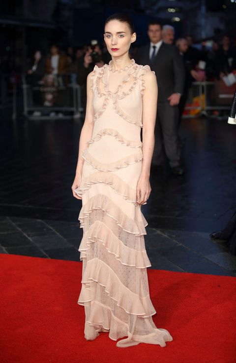 "<p>Who: Rooney Mara</p><p>When: October 14, 2015<br></p><p>Why: We can't decide whether <a href=""http://www.elle.com/fashion/celebrity-style/news/a31194/rooney-mara-alexander-mcqueen-dress/"" target=""_blank"">Rooney Mara's hair</a> or outfit is better—both are a perfect 10.  </p>"