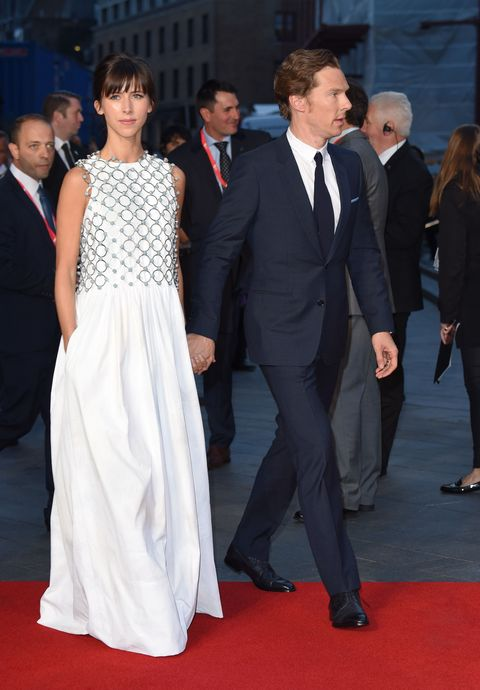<p>Who: Sophie Hunter</p><p>When: October 11, 2015</p><p>Why: As if I needed another reason to be jealous of Sophie Hunter, she stepped out in a gorgeous Dior Couture runway gown on the arm of her husband and baby daddy Benedict Cumberbatch. The chainmail overlay juxtaposed against the voluminous dress is renaissance chic (let's pretend that's a thing), but her casual hairdo makes this red carpet look cool and laid back. </p>