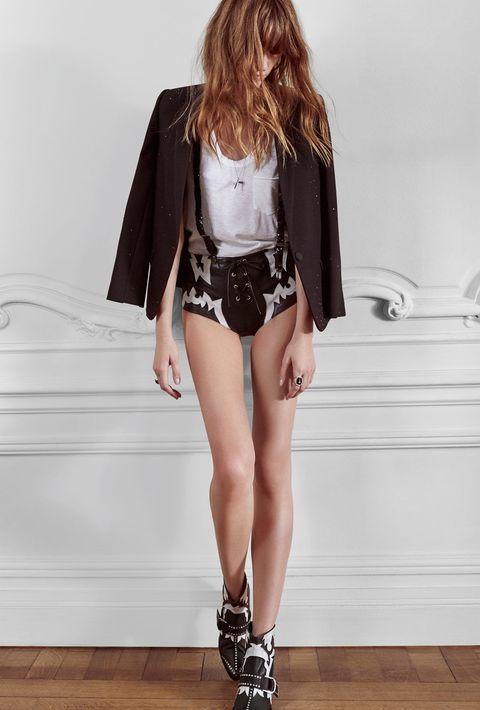 Clothing, Leg, Brown, Sleeve, Human leg, Shoulder, Textile, Outerwear, White, Style,