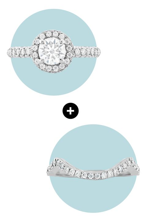 "<p>Pro: The halo ring is extremely gorgeous. Con: Few bands sit nicely beside it. Enter the delicate shape of the curved band, offering just the right amount of clearance for your circular design. </p><p><em>Euphoria Pavé Hearts on Fire Halo Engagement Ring, <a href=""http://www.heartsonfire.com/shop-jewelry/rings/engagement-rings/euphoria-pave-hof-halo-engagement-ring.aspx#zyIMRsuJFDXR063k.97"" target=""_blank"">heartsonfire.com</a>; Hearts on Fire Significance Curved Diamond Band, </em><em><a href=""http://www.heartsonfire.com/shop-jewelry/rings/wedding-bands/significance-curved-diamond-band.aspx#uubwtim2dLvz5DAC.97"" target=""_blank"">heartsonfire.com</a></em></p>"