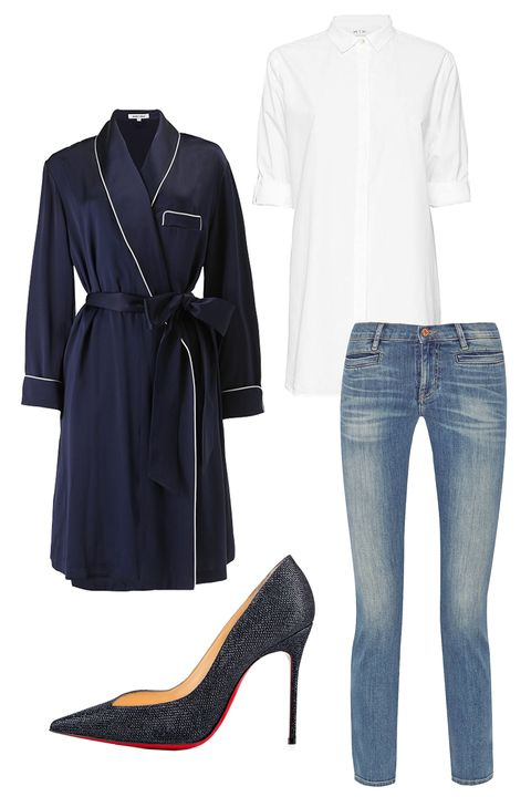 Clothing, Product, Sleeve, Collar, Denim, Textile, Outerwear, White, Coat, Pattern,