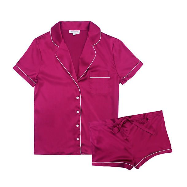 "<p>Journelle Bardot Short PJ Set, $148; <a href=""http://www.journelle.com/loungewear/pajamas/journelle-bardot-short-pj-set/JOU-653.html"">journelle.com</a></p>"