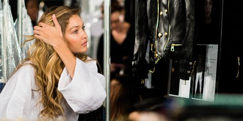 a275cbcd Exclusive: Gorgeous Behind-the-Scenes Photos of Gigi, Joan, Kendall and  More at H&M x Balmain