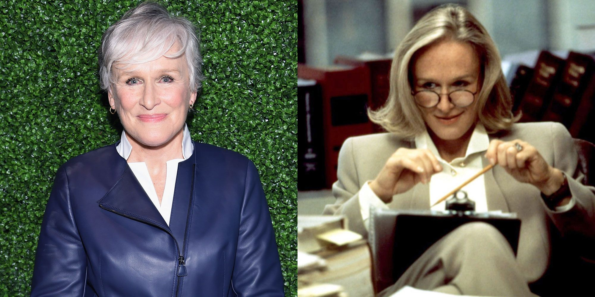 "<p>          In 1994 comedy <em>The Paper</em>, Glenn Close plays a managing editor named Alicia Clark who is the nemesis of Michael Keaton's metro editor. Her no-nonsense character was initially written for a man, but writer Stephen Koepp <a href=""http://articles.mcall.com/1994-03-25/features/2956759_1_school-cafeteria-ron-howard-stephen-koepp/2"">explained in an interview</a>, ""We did some polishing of the script after Glenn was hired, but essentially it's the same character. The character is an archetype—the bean-counter who keeps the pens and pencils in a vault."" Close was so keen on maintaining the original vision of Clark, in fact, she insisted they keep the fistfight between her and Keaton.   </p>"