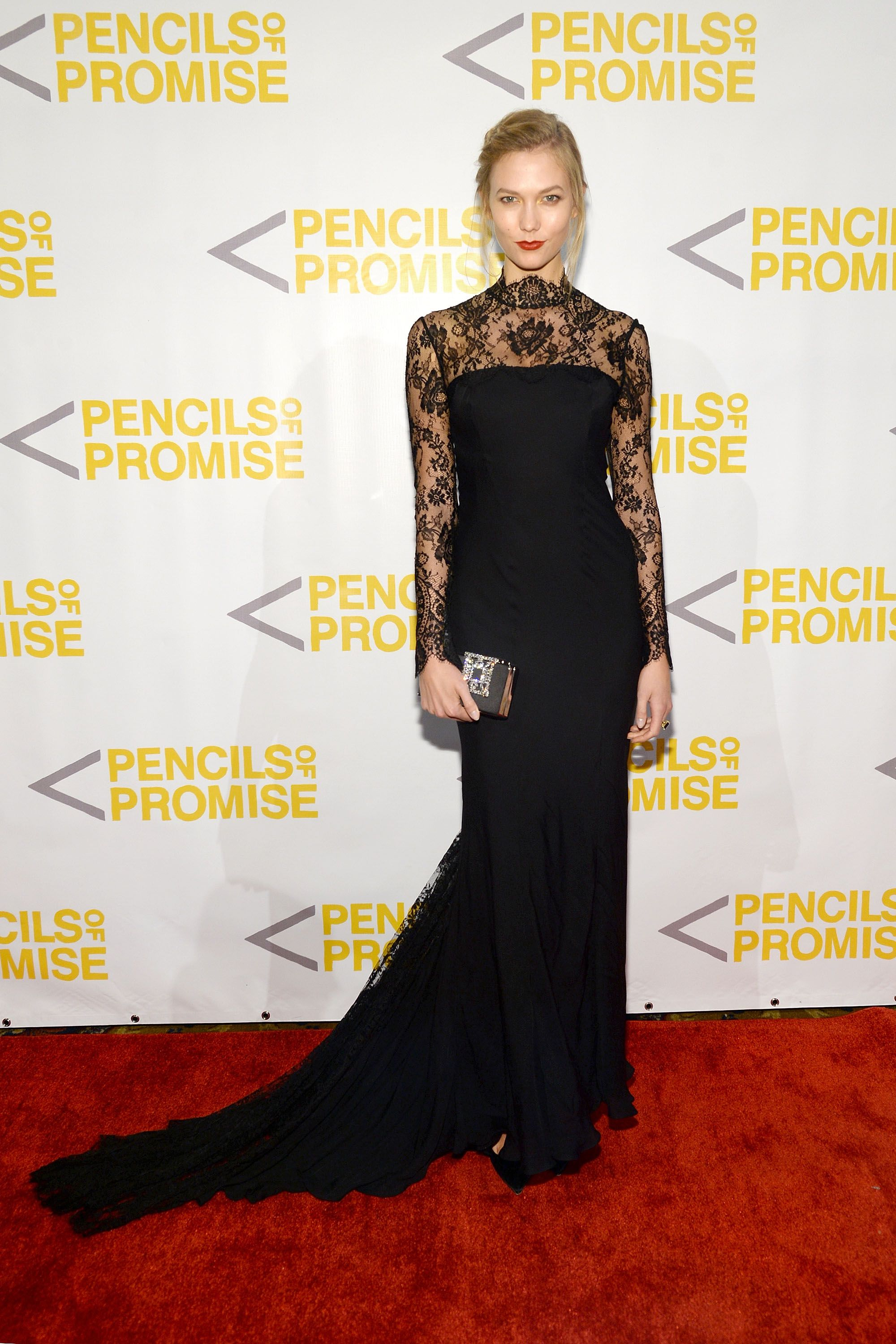"""<p>Who: Karlie Kloss</p><p>When: October 21, 2015</p><p>Why: There really isn't much Karlie Kloss can't wear given her 6'1"""" height, stunning face, and svelte frame, but sometimes she looks particularly <em>unreal</em>. In this dramatic lace gown by Dolce & Gabbana, this is one of those times. </p>"""