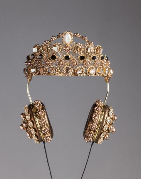 "<p>Dolce & Gabbana Napa Leather Rhinestone Headphones with Crown, $8,895; <u><a href=""http://store.dolcegabbana.com/us/dolce-gabbana/headphones_cod51120376ui.html"" target=""_blank"">dolcegabbana.com</a></u></p>"