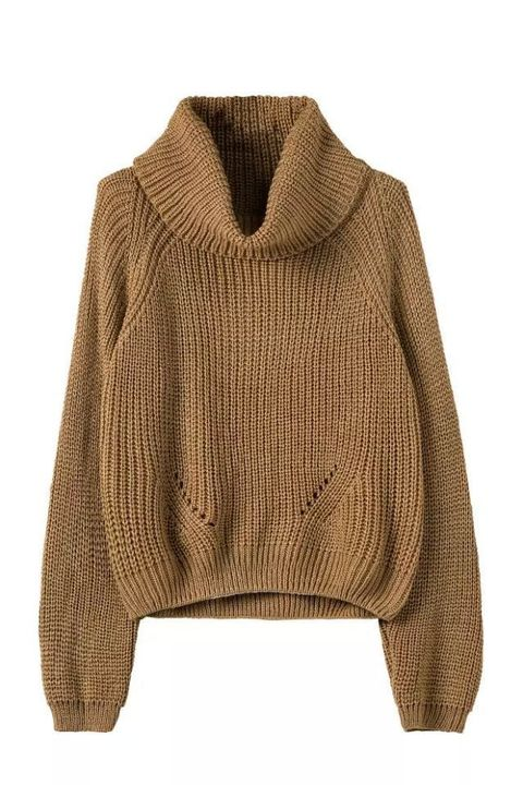 "<p>Genuine People Turtleneck, $36; <a href=""http://genuine-people.com/products/brown-turtleneck-knitted-sweater?variant=6760955205"" target=""_blank"">geniune-people.com</a></p>"