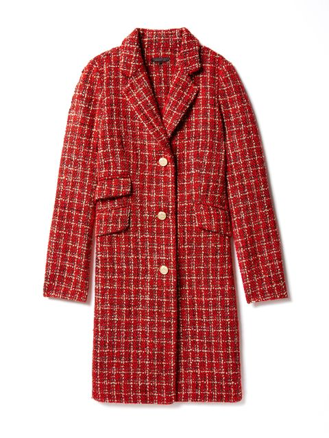 "<p>Single Breasted Tweed Opera Coat, $450, <a href=""http://www.gilt.com/sale/women/mm/gilt-x-mindy-x-salvador-1?page_guid=5c371056-36ea-4bd8-9968-1d11057aa4bd"" target=""_blank"">gilt.com</a></p>"