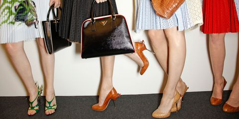 Footwear, Brown, Human leg, Textile, Joint, Bag, Fashion accessory, Red, Orange, Style,