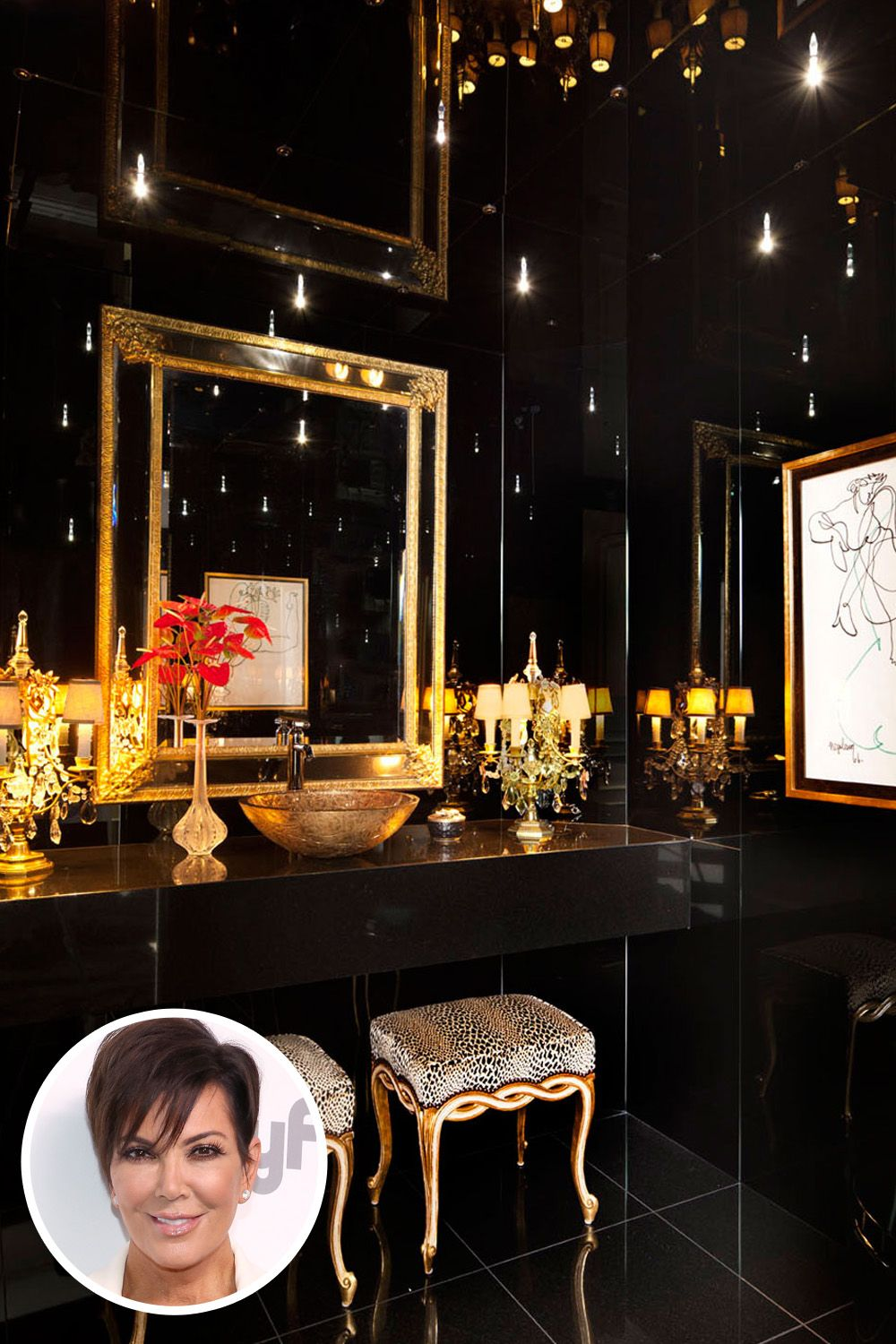 Celebrity Bathrooms   Most Insane Celebrity Bathrooms: Kris Jenner, Marilyn  Monroe, Lady Gaga