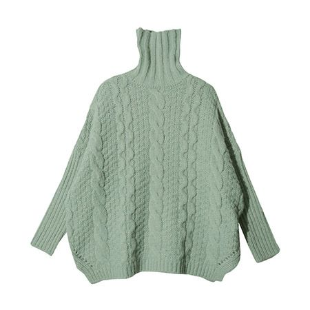 "<p>Stylenanda Oversized Turtleneck Sweater, $48&#x3B; <u><a href=""http://en.stylenanda.com/product/Oversized-Turtleneck-Sweater--Mint-/SFSELFAA0044079/?main_cate_no=0&display_group=1"" target=""_blank"">stylenanda.com</a></u></p>"
