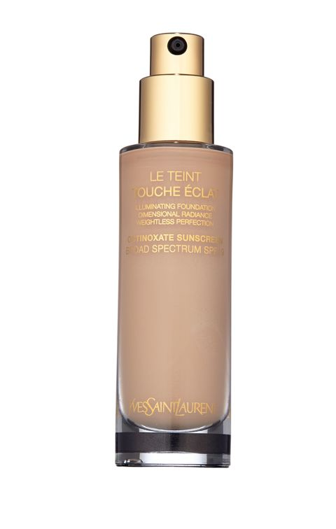 "<p><strong>Nicole: </strong>Today I'm wearing YSL Touche Éclat foundation. That's what I use day to day.</p><p>YSL Touche Éclat Foundation, $57; <a href=""http://www.yslbeautyus.com/le-teint-touche-%C3%A9clat/1025YSL.html?gclid=CLC0k_2kjskCFcOGaQodqCsDag&cm_mmc=cpc-_-googleSearchBrand-_-YSL%20Make%20Up%20-%20Ex_Product%20-%20Touche%20Eclat%20Teint-_-kw%3A%20ysl%20touche%20eclat%20foundation&dwvar_1025YSL_color=Beige%20Rose%2020"">yslbeautyus.com</a></p>"