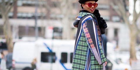 Hat, Plaid, Tartan, Street, Sunglasses, Street fashion, Pattern, Goggles, Sun hat, Fedora,