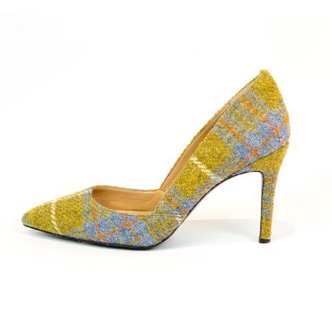 Footwear, High heels, Yellow, Basic pump, Tan, Teal, Aqua, Beige, Sandal, Close-up,