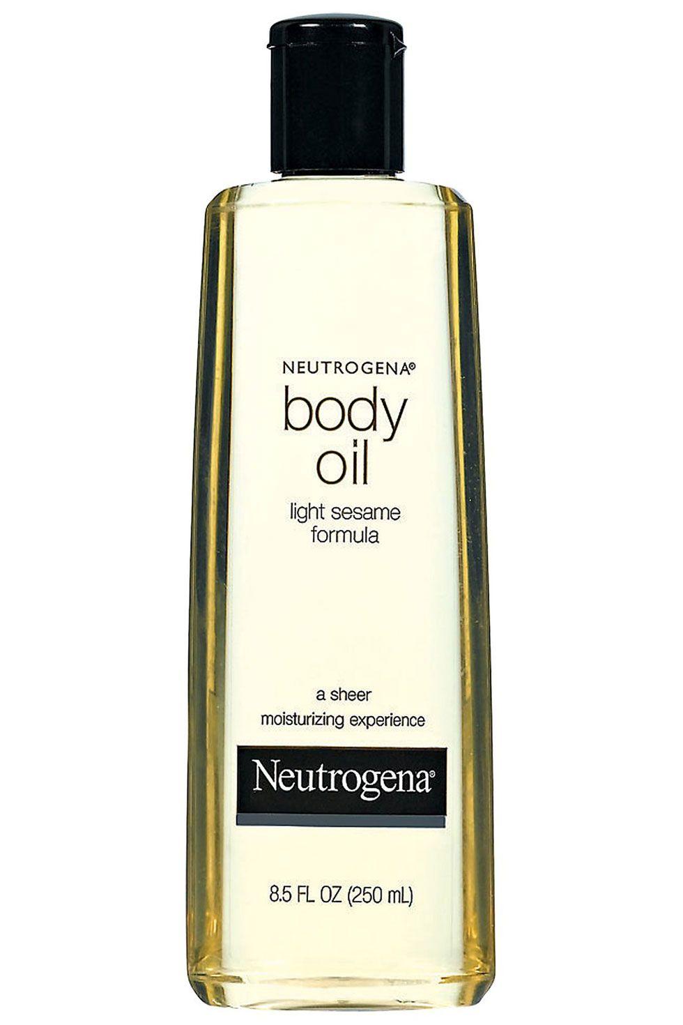 """<p>Neutrogena Body Oil, $9.49; <a href=""""http://www.neutrogena.com/product/body+oil.do"""" target=""""_blank"""">neutrogena.com</a></p>"""