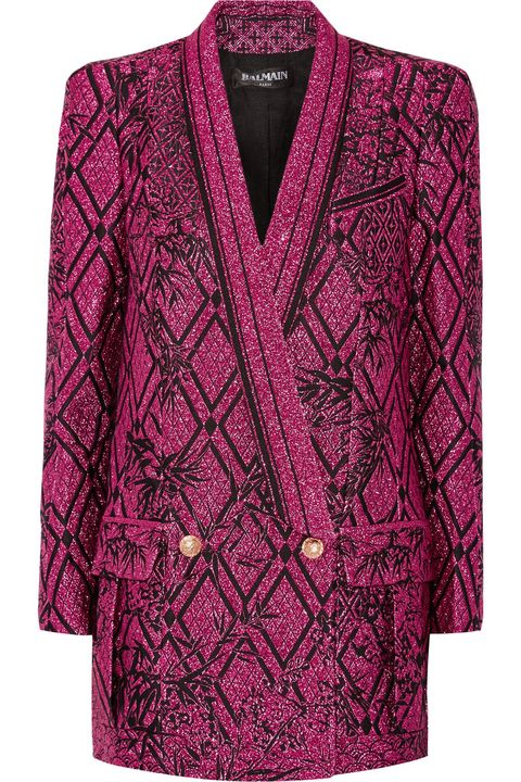 Product, Sleeve, Pattern, Textile, Magenta, Outerwear, Red, Purple, Collar, Maroon,