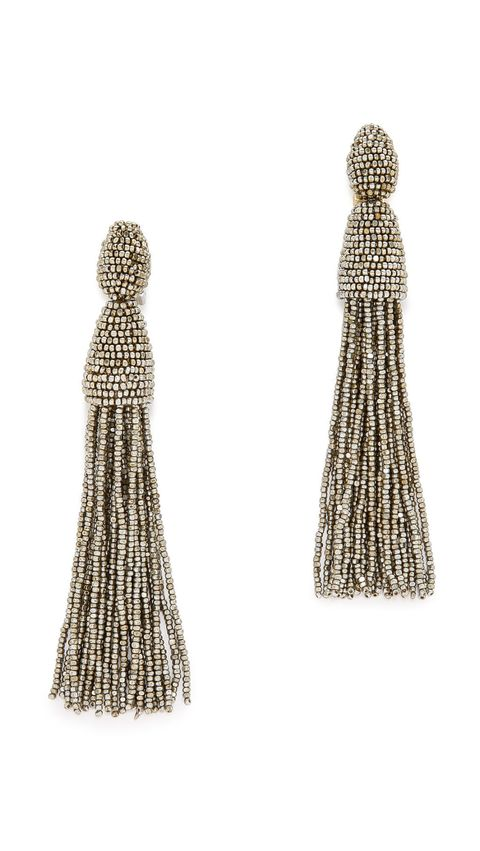"<p>Oscar de la Renta Tassel Earrings, $395; <a href=""https://www.shopbop.com/tassel-earrings-oscar-renta/vp/v=1/1518363823.htm?folderID=2534374302159487&fm=other-shopbysize-viewall&os=false&colorId=34590"">shopbop.com</a><br></p>"