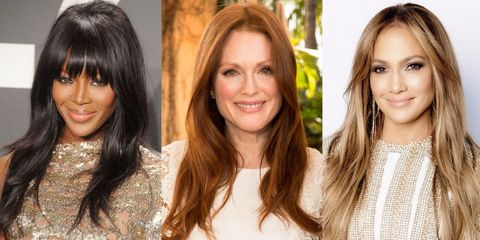 See a gallery of celebrities over 40 years old who wear their hair long.