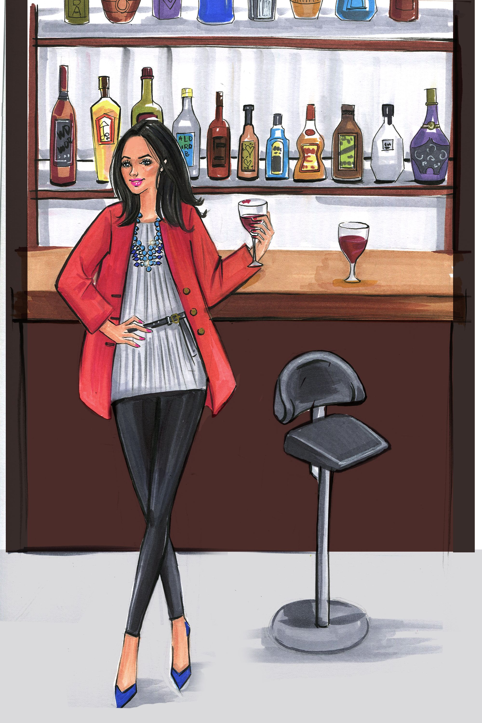 <p>We all know she has to look stylish while eating (and posting food pics) at the latest hotspots. Help your favorite foodie stay on-trend with a statement necklace and chic leggings. </p>